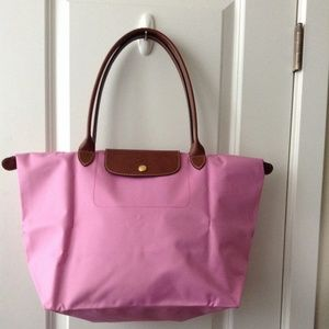 LONGCHAMP Le Pliage Large Shoulder Tote Bag Pink